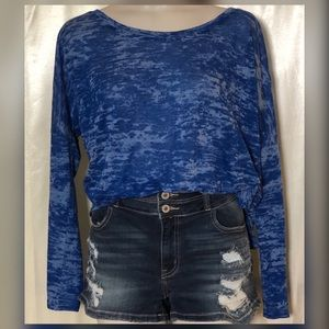Big Star marbled blue burnt out tee